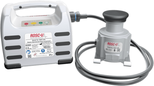ROSC-U. Mini mechanical CPR chest compressor