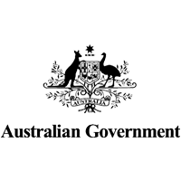 Logo of Australian Government. kangaroo and ostrich