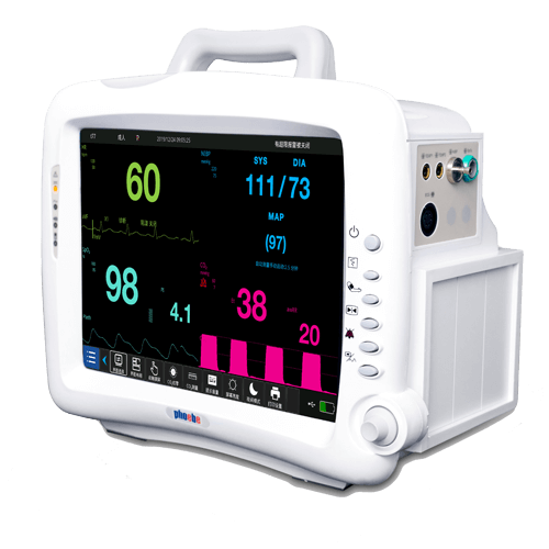 """With the DIONA ICU Monitor's large data storage capacity, rest assured all the information you need is readily available. Its large 15"""" TFT LCD screen makes all the waveforms and monitored vital signs easily observable, and helps you to quickly configure your treatment in accordance with the fluctuations."""