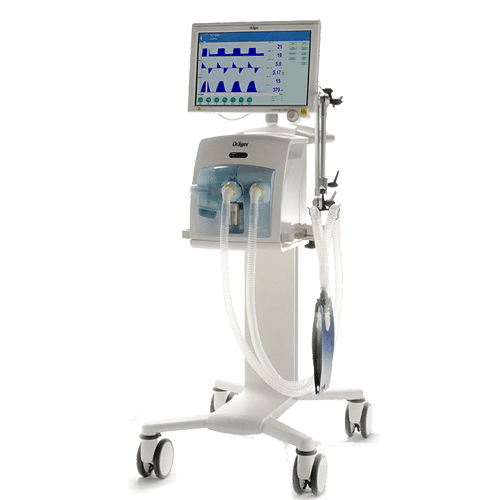 Ventilator Machine Evita Infinity 500. A machine that breathes for you if your respiratory pathways have been blocked in any way (because of an accident, pneumonia, etc).