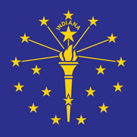 Indiana State in USA logo