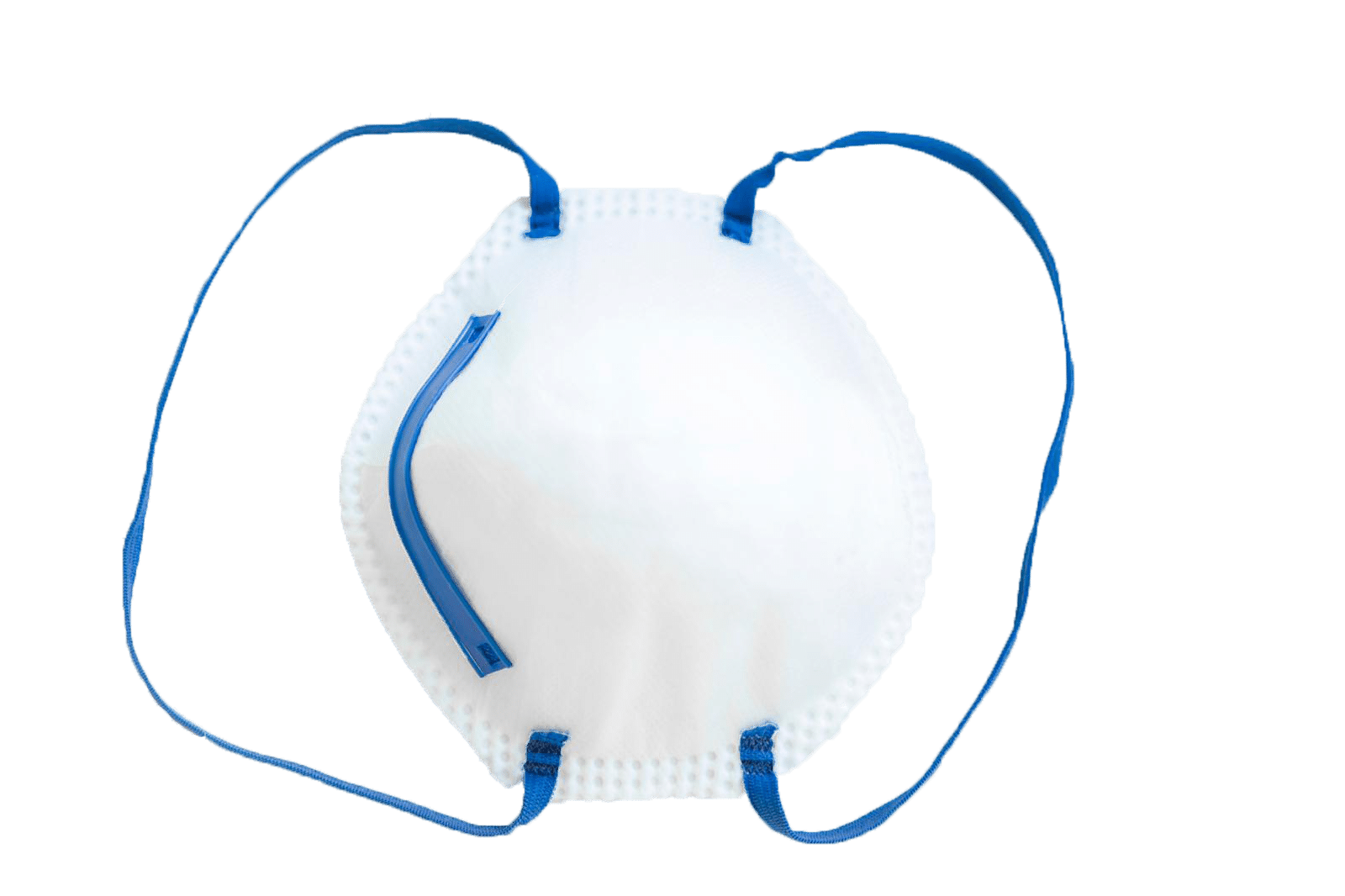 N95 mask. N95 Protective Cupped Respirator Mask. 65/5000 dome-shaped mask. white color, perfect for protection against coronavirus