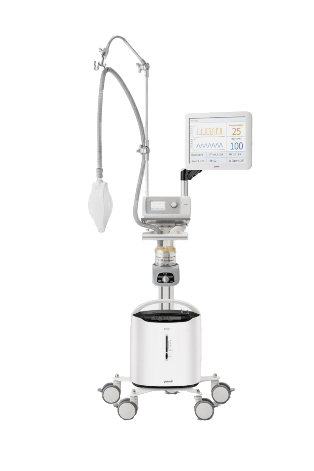 Ventilator Machine YH-830 Bi-level Units. A machine that breathes for you if your respiratory pathways have been blocked in any way (because of an accident, pneumonia, etc).