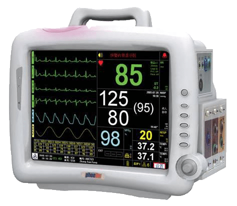 Phoebe pro patient monitor. Patient monitors are part of Medical Monitoring and provide medical stuff with non-stop patient care. Patient Monitors are mobile and can be used in every circumstance.