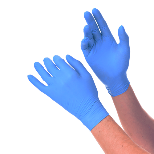 Disposable Nitrile Medical Gloves. The examination glove unrivalled in terms of durability and protection. Our disposable nitrile gloves allow you to maintain a high level of dexterity while protecting your hands regardless of your profession or task. Available size XS, S, M, L, XL. Available colors: white, blue