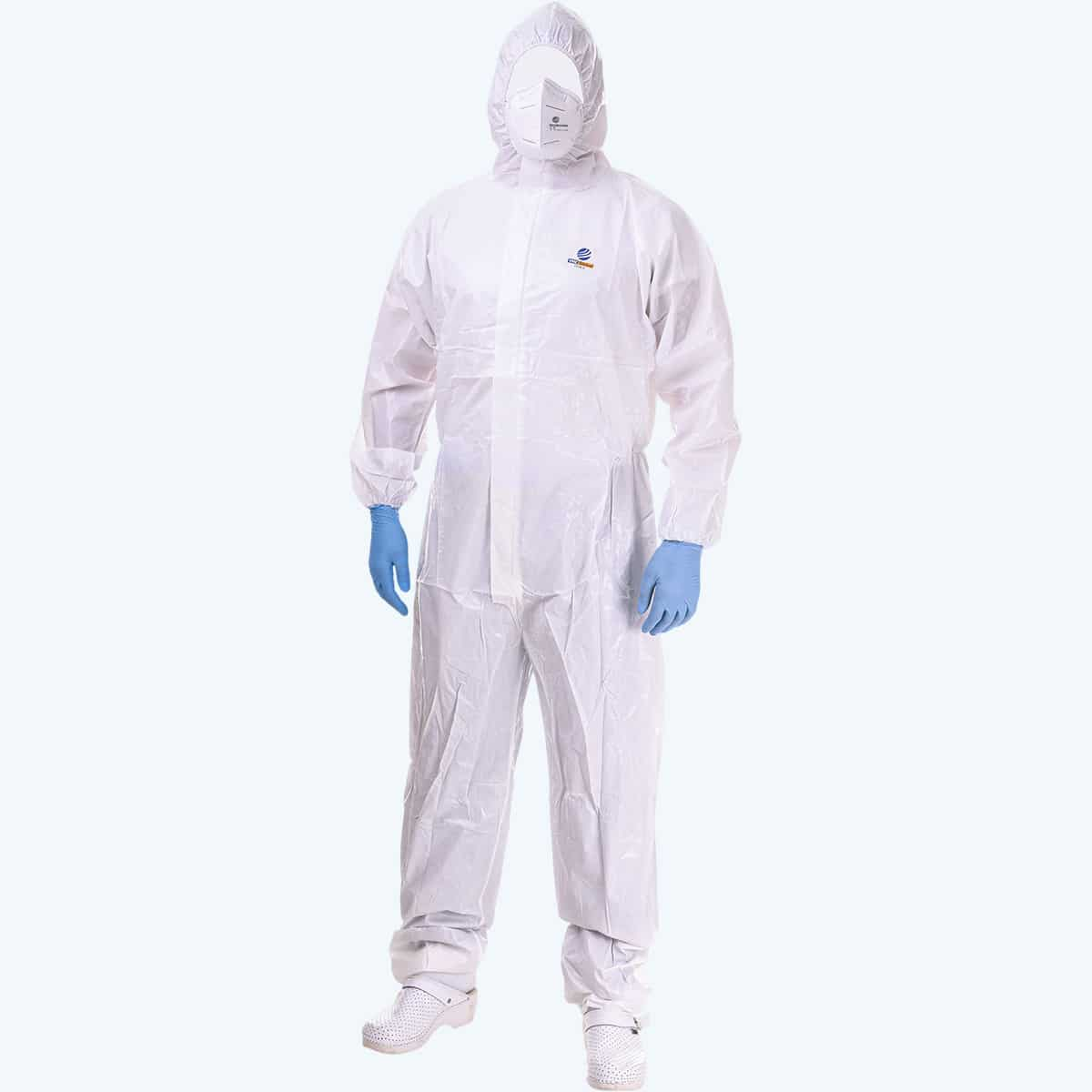 Protective Medical Cat 3 Type Suit 6b. A white suit that covers your entire body from water, dirt and various viruses