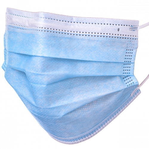 3 ply Type 1, Type 2, Type 2R, Non-medical Surgical Face Mask. Color Blue. it is placed over the airways to reduce the amount of harmful substances we inhale. It is fixed to the head via a rubber band that attaches to the ears